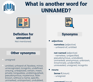 unnamed, synonym unnamed, another word for unnamed, words like unnamed, thesaurus unnamed