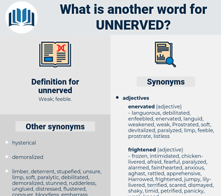 unnerved, synonym unnerved, another word for unnerved, words like unnerved, thesaurus unnerved