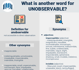 unobservable, synonym unobservable, another word for unobservable, words like unobservable, thesaurus unobservable