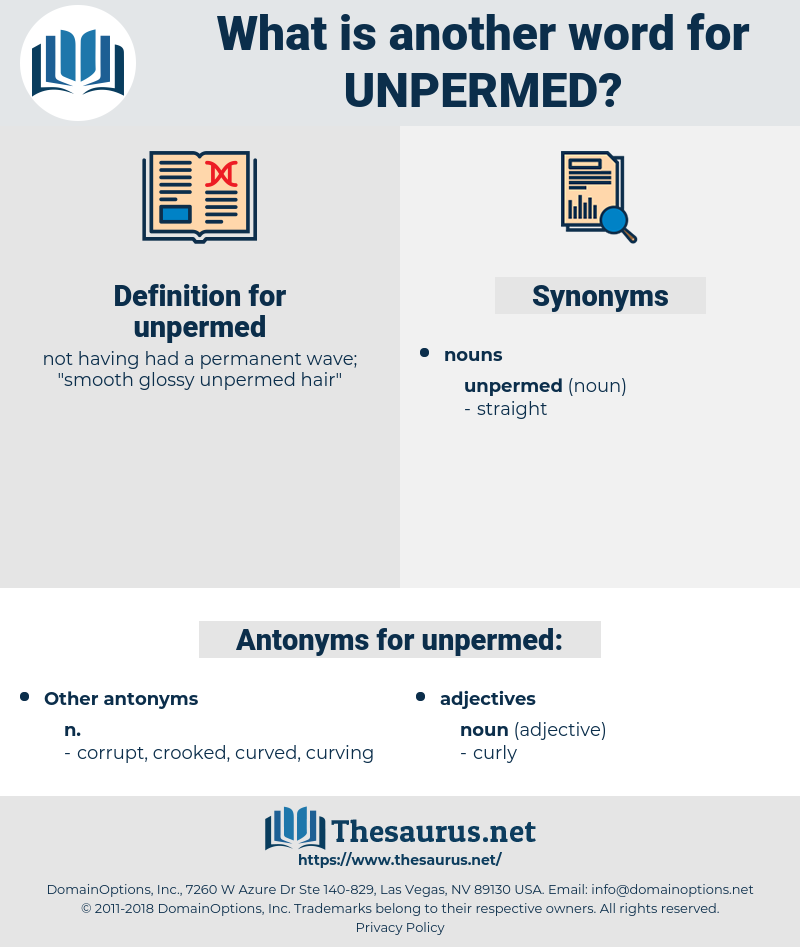 unpermed, synonym unpermed, another word for unpermed, words like unpermed, thesaurus unpermed