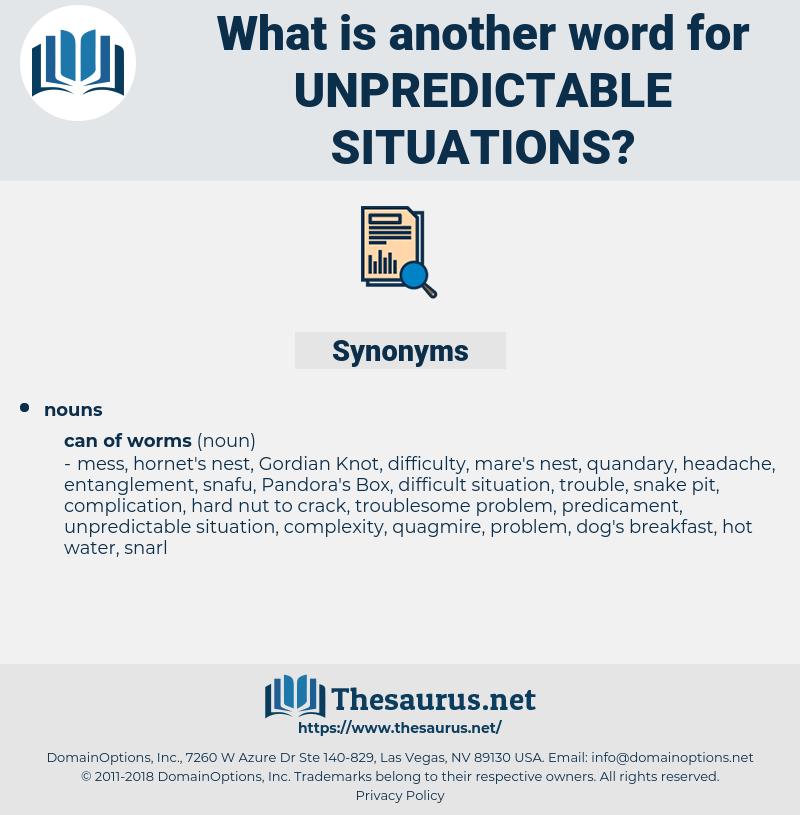 unpredictable situations, synonym unpredictable situations, another word for unpredictable situations, words like unpredictable situations, thesaurus unpredictable situations