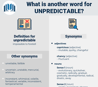 unpredictable, synonym unpredictable, another word for unpredictable, words like unpredictable, thesaurus unpredictable