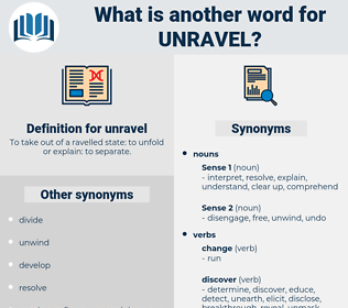 unravel, synonym unravel, another word for unravel, words like unravel, thesaurus unravel