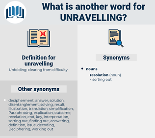 unravelling, synonym unravelling, another word for unravelling, words like unravelling, thesaurus unravelling