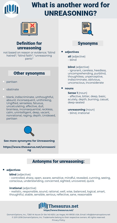 unreasoning, synonym unreasoning, another word for unreasoning, words like unreasoning, thesaurus unreasoning