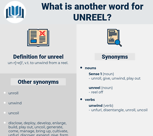 unreel, synonym unreel, another word for unreel, words like unreel, thesaurus unreel