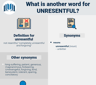 unresentful, synonym unresentful, another word for unresentful, words like unresentful, thesaurus unresentful
