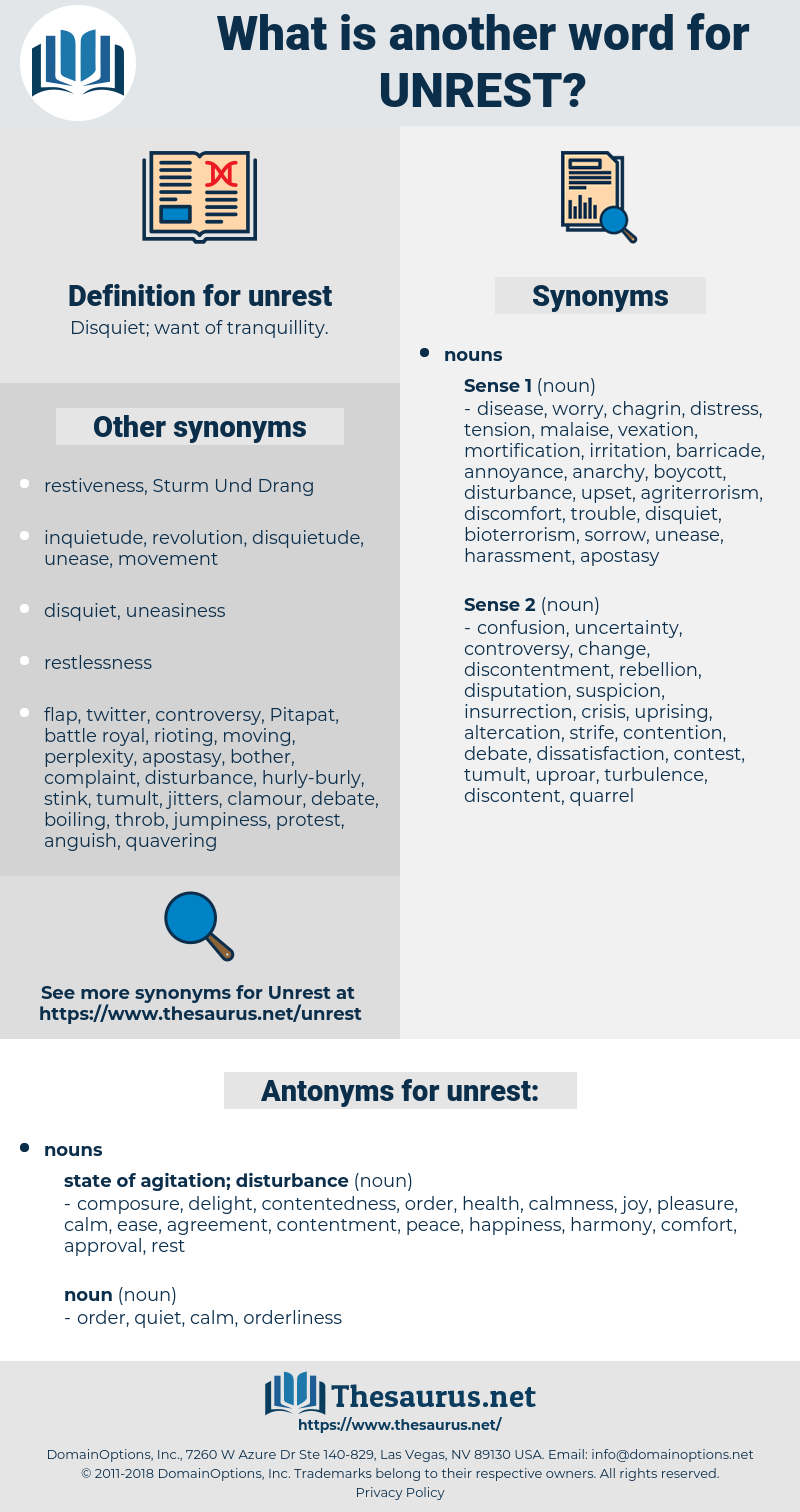 unrest, synonym unrest, another word for unrest, words like unrest, thesaurus unrest