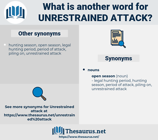 unrestrained attack, synonym unrestrained attack, another word for unrestrained attack, words like unrestrained attack, thesaurus unrestrained attack