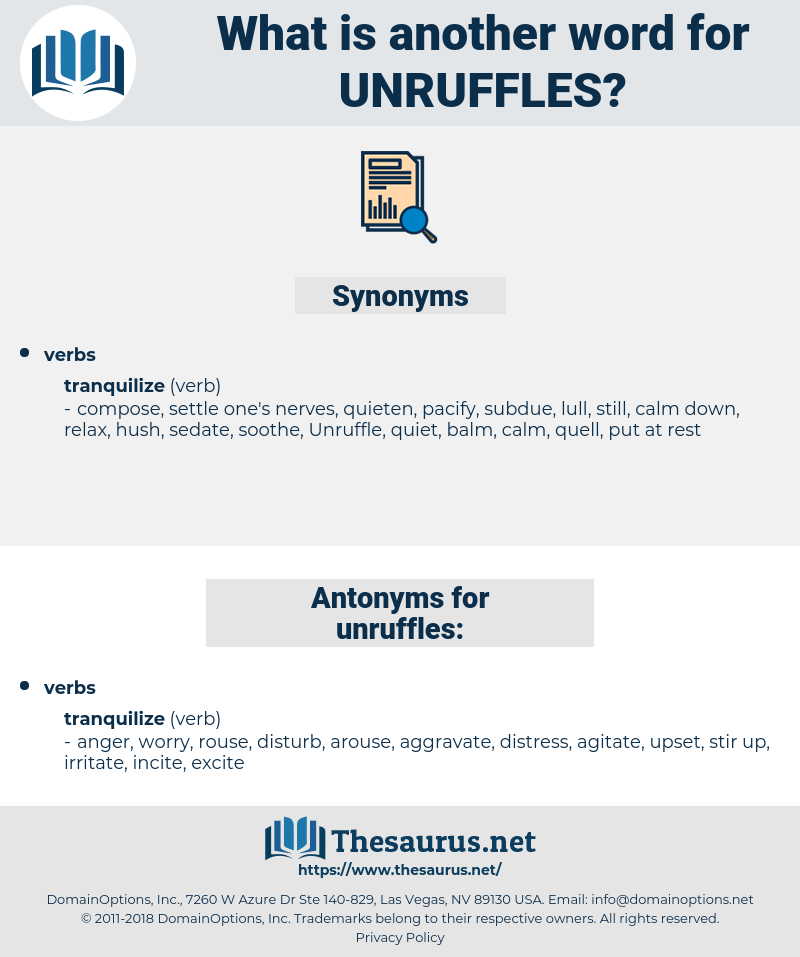 unruffles, synonym unruffles, another word for unruffles, words like unruffles, thesaurus unruffles