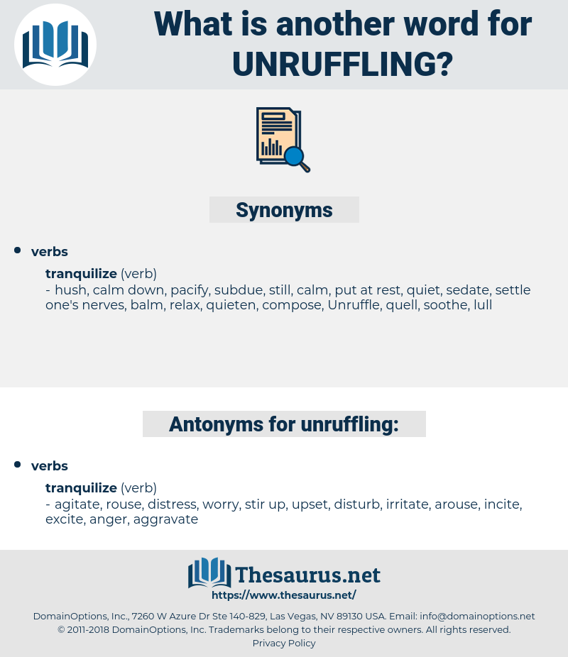 unruffling, synonym unruffling, another word for unruffling, words like unruffling, thesaurus unruffling