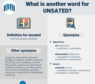 unsated, synonym unsated, another word for unsated, words like unsated, thesaurus unsated