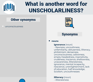 unscholarliness, synonym unscholarliness, another word for unscholarliness, words like unscholarliness, thesaurus unscholarliness
