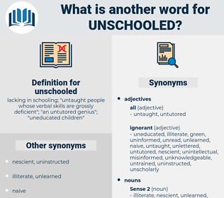 unschooled, synonym unschooled, another word for unschooled, words like unschooled, thesaurus unschooled