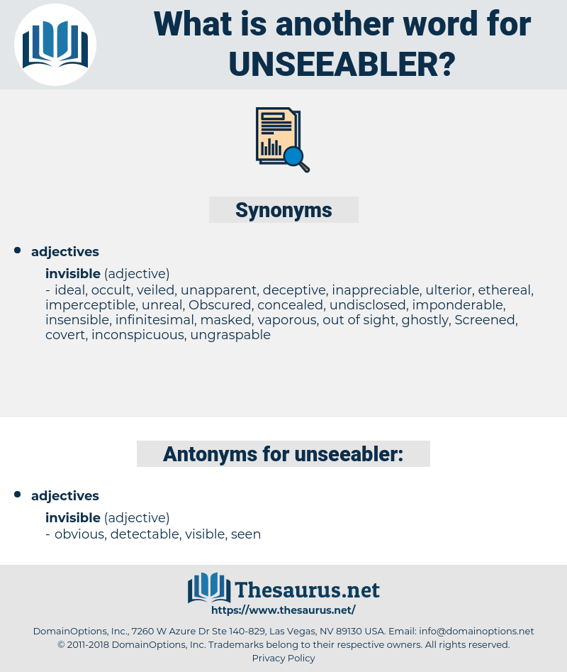 unseeabler, synonym unseeabler, another word for unseeabler, words like unseeabler, thesaurus unseeabler