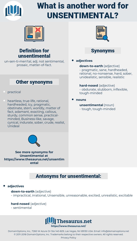 unsentimental, synonym unsentimental, another word for unsentimental, words like unsentimental, thesaurus unsentimental