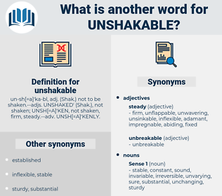 unshakable, synonym unshakable, another word for unshakable, words like unshakable, thesaurus unshakable