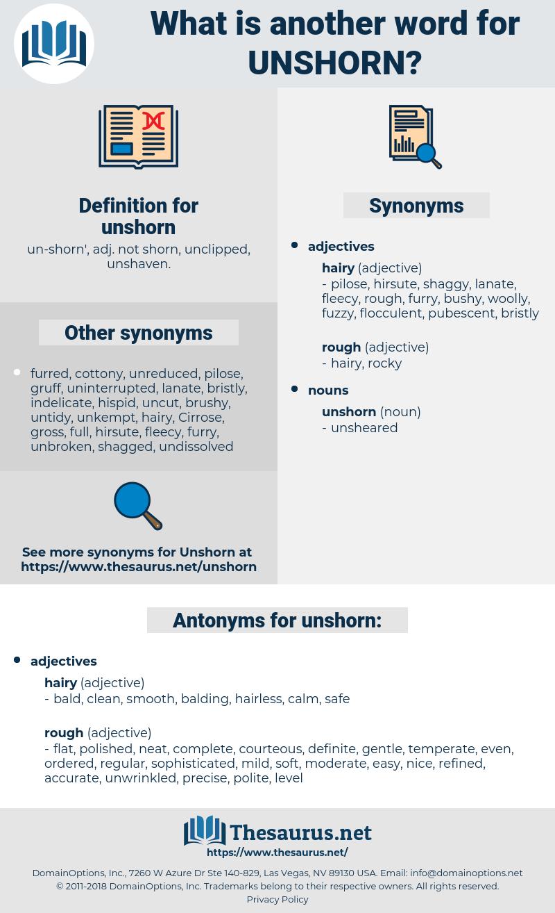 unshorn, synonym unshorn, another word for unshorn, words like unshorn, thesaurus unshorn