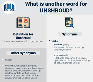 Unshroud, synonym Unshroud, another word for Unshroud, words like Unshroud, thesaurus Unshroud