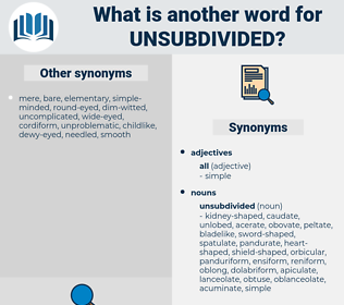 unsubdivided, synonym unsubdivided, another word for unsubdivided, words like unsubdivided, thesaurus unsubdivided