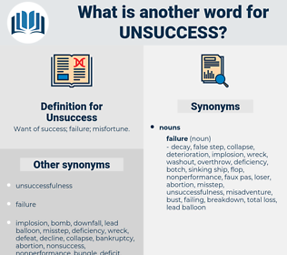 Unsuccess, synonym Unsuccess, another word for Unsuccess, words like Unsuccess, thesaurus Unsuccess