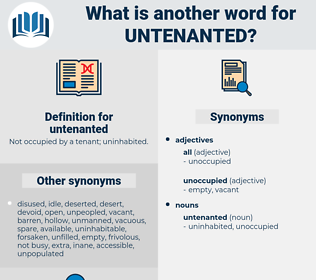 untenanted, synonym untenanted, another word for untenanted, words like untenanted, thesaurus untenanted
