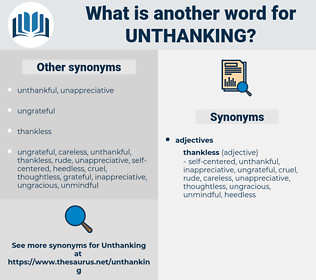 unthanking, synonym unthanking, another word for unthanking, words like unthanking, thesaurus unthanking