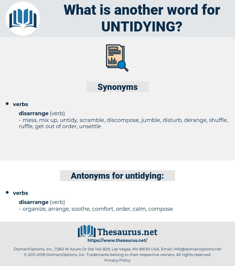 untidying, synonym untidying, another word for untidying, words like untidying, thesaurus untidying