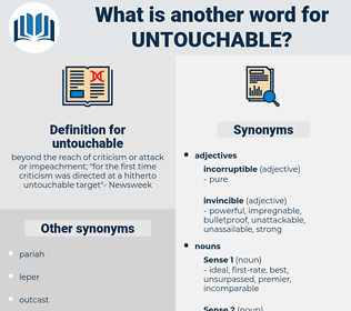 untouchable, synonym untouchable, another word for untouchable, words like untouchable, thesaurus untouchable