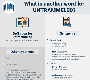 untrammeled, synonym untrammeled, another word for untrammeled, words like untrammeled, thesaurus untrammeled