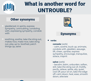 untrouble, synonym untrouble, another word for untrouble, words like untrouble, thesaurus untrouble
