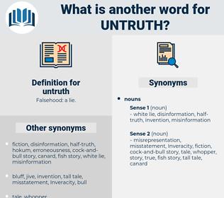 untruth, synonym untruth, another word for untruth, words like untruth, thesaurus untruth