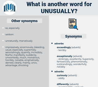 unusually, synonym unusually, another word for unusually, words like unusually, thesaurus unusually