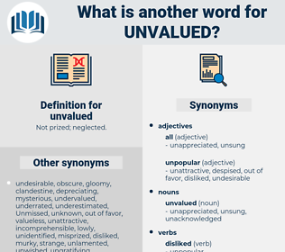 unvalued, synonym unvalued, another word for unvalued, words like unvalued, thesaurus unvalued
