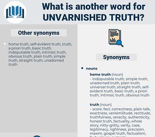 unvarnished truth, synonym unvarnished truth, another word for unvarnished truth, words like unvarnished truth, thesaurus unvarnished truth