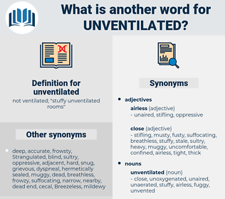 unventilated, synonym unventilated, another word for unventilated, words like unventilated, thesaurus unventilated