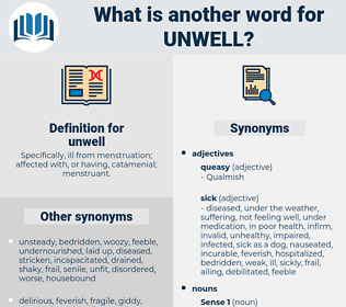 unwell, synonym unwell, another word for unwell, words like unwell, thesaurus unwell