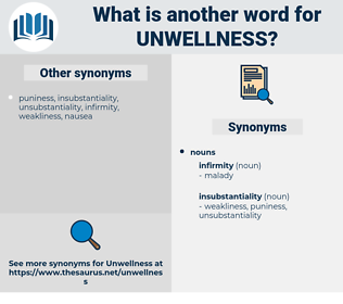 unwellness, synonym unwellness, another word for unwellness, words like unwellness, thesaurus unwellness