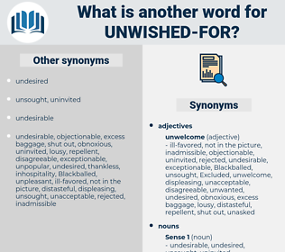 unwished-for, synonym unwished-for, another word for unwished-for, words like unwished-for, thesaurus unwished-for