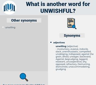 unwishful, synonym unwishful, another word for unwishful, words like unwishful, thesaurus unwishful