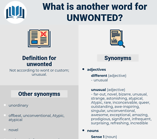 unwonted, synonym unwonted, another word for unwonted, words like unwonted, thesaurus unwonted