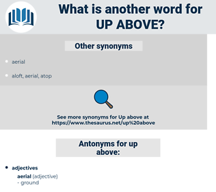up above, synonym up above, another word for up above, words like up above, thesaurus up above