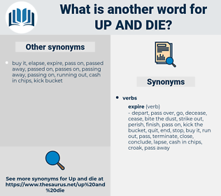 up and die, synonym up and die, another word for up and die, words like up and die, thesaurus up and die