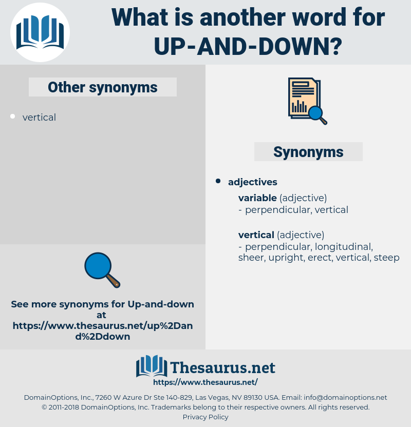 Synonyms for UP-AND-DOWN - Thesaurus net