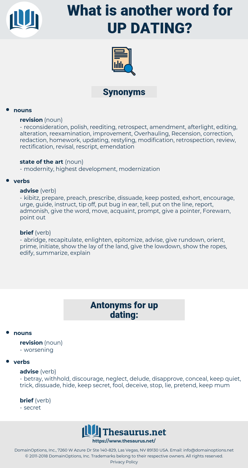 up dating, synonym up dating, another word for up dating, words like up dating, thesaurus up dating