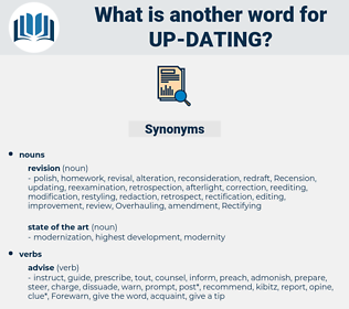 up-dating, synonym up-dating, another word for up-dating, words like up-dating, thesaurus up-dating