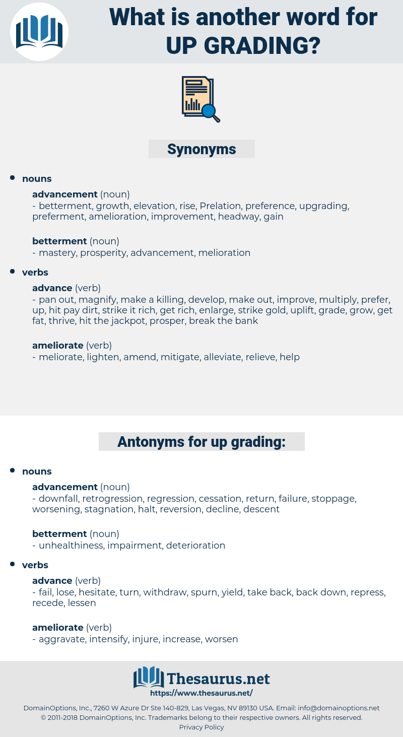 up-grading, synonym up-grading, another word for up-grading, words like up-grading, thesaurus up-grading