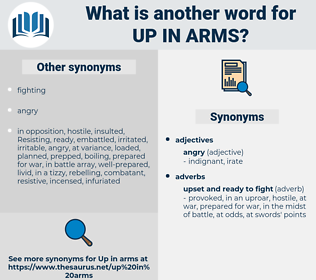 up in arms, synonym up in arms, another word for up in arms, words like up in arms, thesaurus up in arms
