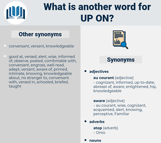 up on, synonym up on, another word for up on, words like up on, thesaurus up on