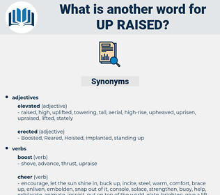 up raised, synonym up raised, another word for up raised, words like up raised, thesaurus up raised
